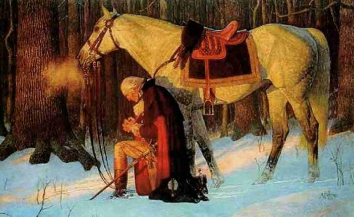 The Vision of George Washington at Valley Forge