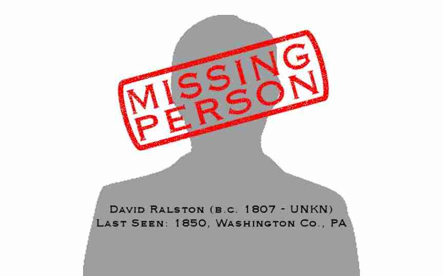 Missing Person: David Ralston