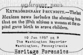 Mexican Septuplets in 1857