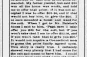Gen Grant's Horse Trade
